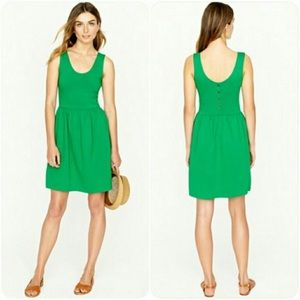 J crew Villa green cotton dress size XL